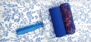 notwallpaper-blue-plants-pattern-paint-roller-decorative-paint-roller-home-decor-decor
